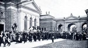 De begrafenis van Louis Mettling in Leipzig.